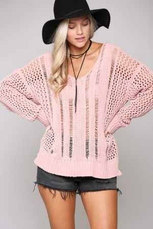 SUPER SOFT LOOSE FIT V-NECK SWEATER